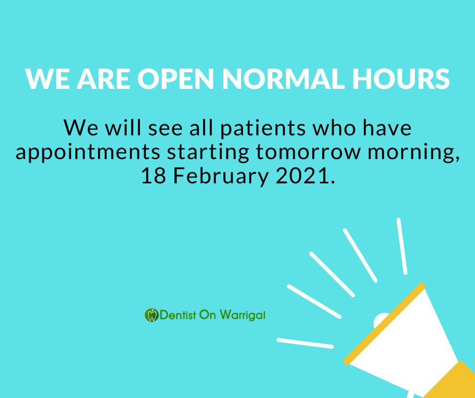 Dentist On Warrigal Cheltenham announcement
