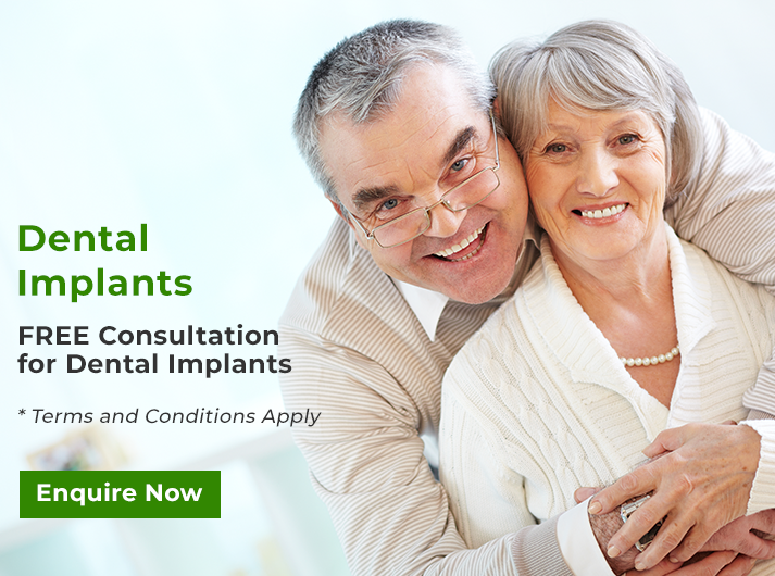 free consultation for dental implants banner cheltenham